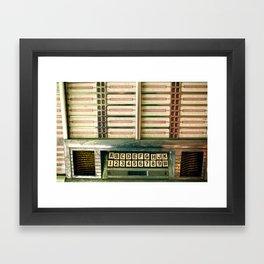 Vintage Jukebox Framed Art Print