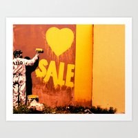 sale Art Prints featuring SALE by very giorgious