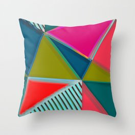 MODERN ART   VIBRANT DESIGN   ABSTRACT   CONTEMPORARY STUDIO   NEW   GRAPHIC ART Throw Pillow
