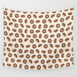 Chocolate Donuts on Cream Wall Tapestry
