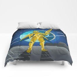 space suit science fiction soldier Comforters