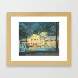 Lagoon at Night; Palace of Fine Arts in Chicago 1893 Framed Art Print