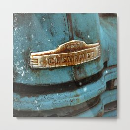 Old Chevy Bumper Grill Photograph by CheyAnne Sexton Metal Print