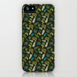 Forest Ferns Illustrated Pattern iPhone Case