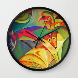 spring dog Wall Clock