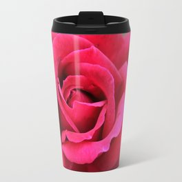 Hot Pink Rose Travel Mug