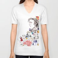 willy wonka V-neck T-shirts featuring Willy Wonka & The Chocolate Factory by Arielle Trenk