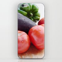 vegetables iPhone & iPod Skins featuring Vegetables by Carlo Toffolo