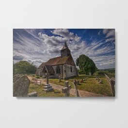 St Bartholomew Chalvington Metal Print
