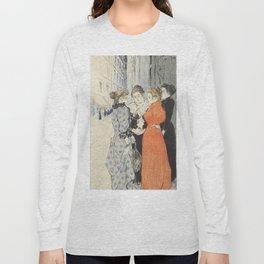 "Théophile Alexandre Steinlen ""Les rues amoureuses"" Long Sleeve T-shirt"