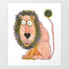 cartoon lion Art Print