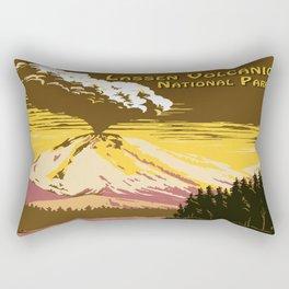 Vintage Lassen Volcanic National Park Rectangular Pillow