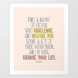 Amy Poehler commencement speech quote Art Print