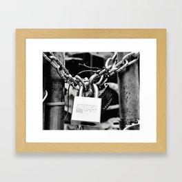 American lock Framed Art Print