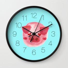 Watercolor 3 Little Piggy Wall Clock