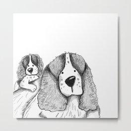 Velcro Dog Metal Print