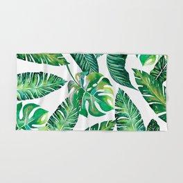 Jungle Leaves, Banana, Monstera #society6 Hand & Bath Towel