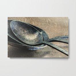 Tarnished Spoons Metal Print