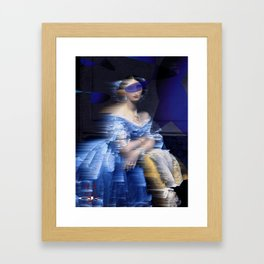 bluedress Framed Art Print