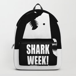 Shark week (on black) Backpack
