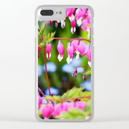 Bleeding hearts Clear iPhone Case