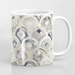Monochrome Art Deco Marble Tiles Coffee Mug