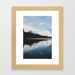 Snow-capped Reflections Framed Art Print