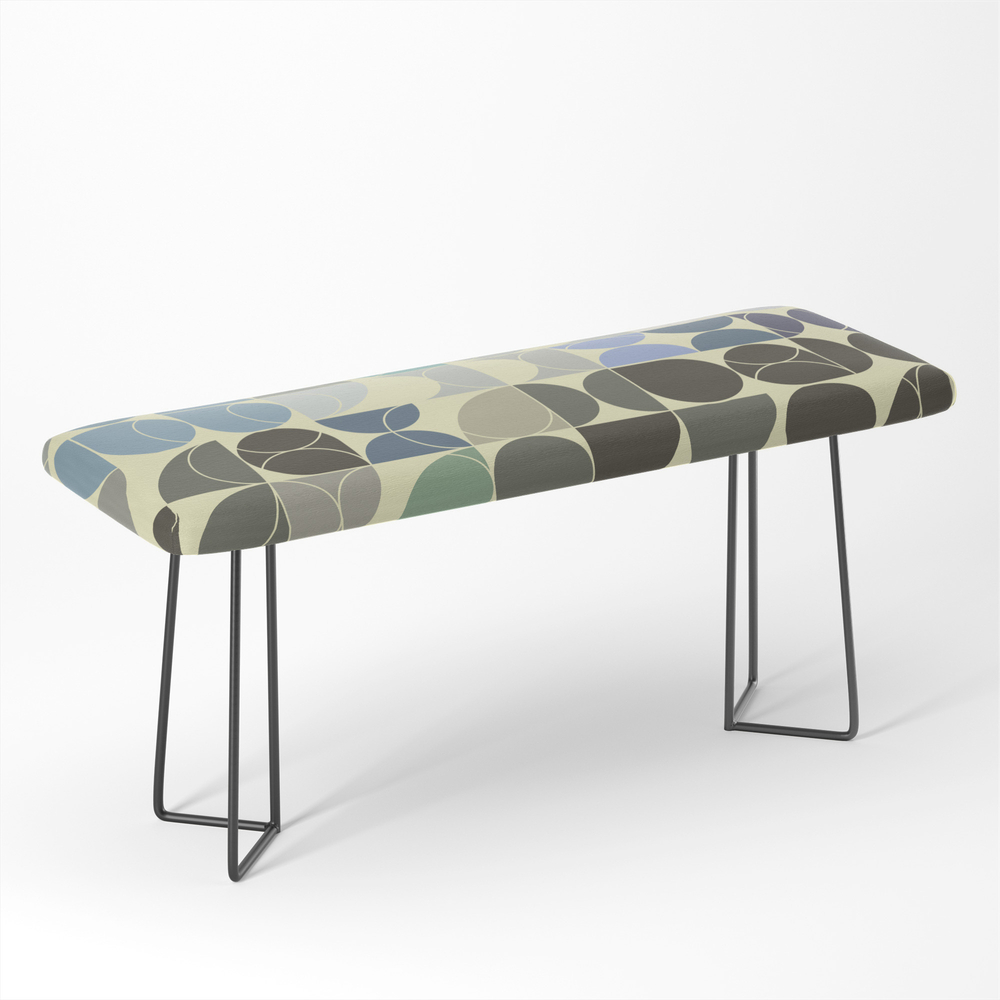 Abstract Geometric Artwork 02 Bench by milankatic