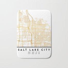 SALT LAKE CITY UTAH CITY STREET MAP ART Bath Mat