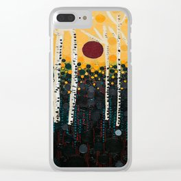 :: Red Moon Love Song :: Clear iPhone Case