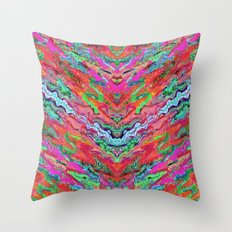 Tulip Trails 4 A Throw Pillow