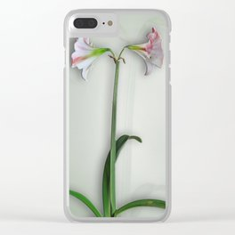 Shadowed Amaryllis Clear iPhone Case