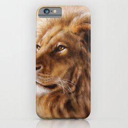 Beautiful lion king hand painted illustration iPhone Case