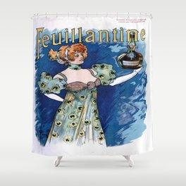 Vintage poster - Feuillantine Shower Curtain