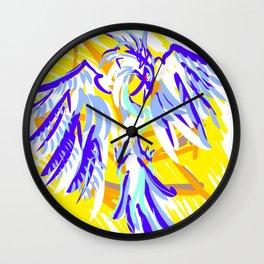 Blue Phoenix Wall Clock