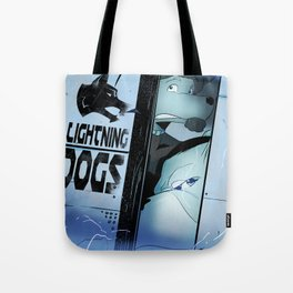 Lightning Dogs :: Beware the Glampire! by Tony Baldini Tote Bag