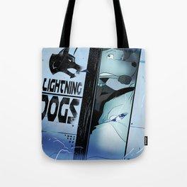 Lightning Dogs :: Beware the Glampire! by Tony Baldini Tote Bag