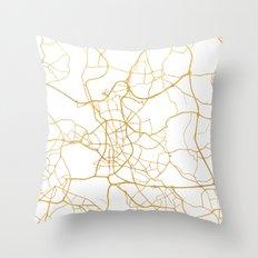 DÜSSELDORF GERMANY CITY STREET MAP ART Throw Pillow