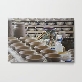 In the Pottery Shop Metal Print