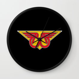 BB wings logo Wall Clock