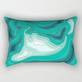 ocean dephts map Rectangular Pillow