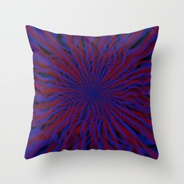 radial layers 22 Throw Pillow