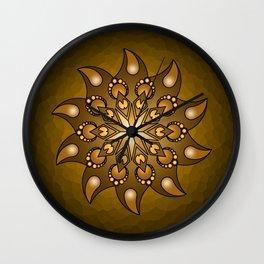 Pure gold mandala Wall Clock