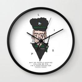 Vegetarian Polis Officer  Wall Clock