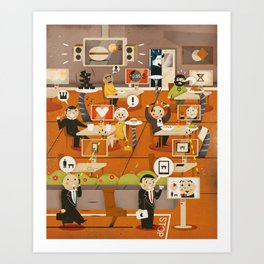 Kitchen Madness ... ( 2011 ) Art Print