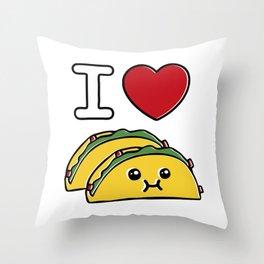 Love Tacos Throw Pillow