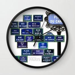 THE DISCREET PARIS Very parisian cosmopolitanism Wall Clock