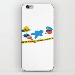 Acrosplat - Crime scene iPhone Skin