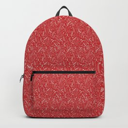 Christmas Ferns - Red Backpack