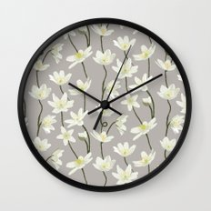 Anemone - Grey Wall Clock